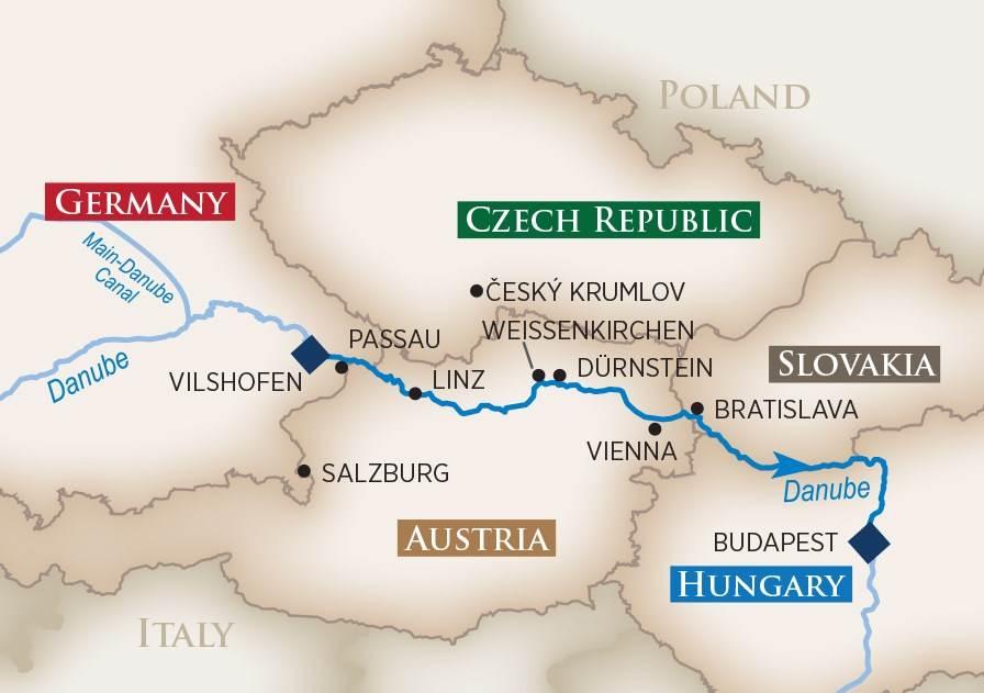 AmaWaterways Danube River Cruise Budapest to Vilshoven