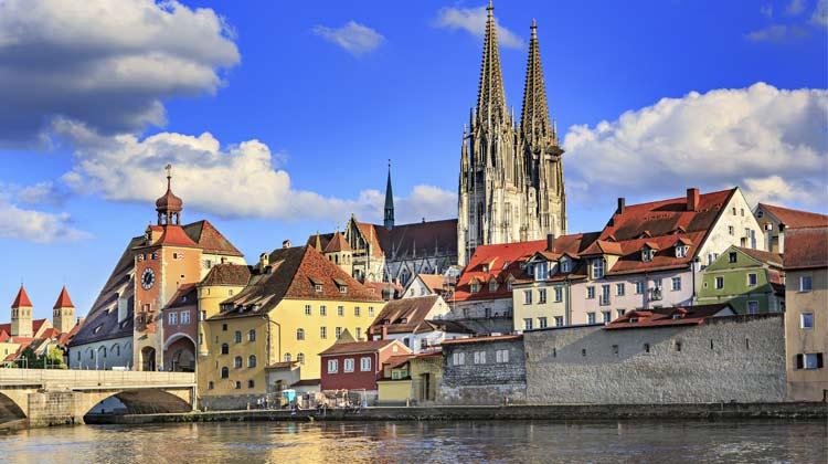 Regensburg Germany on the Danube